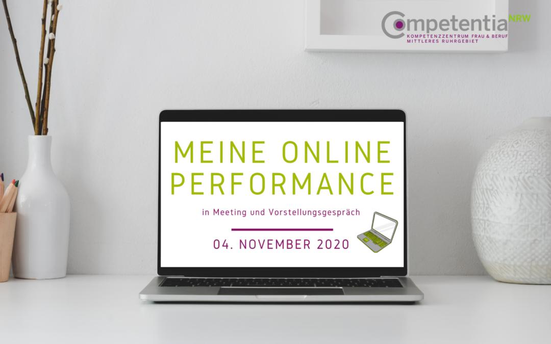 Online-Seminar Meine Online Performance 04.11.2020
